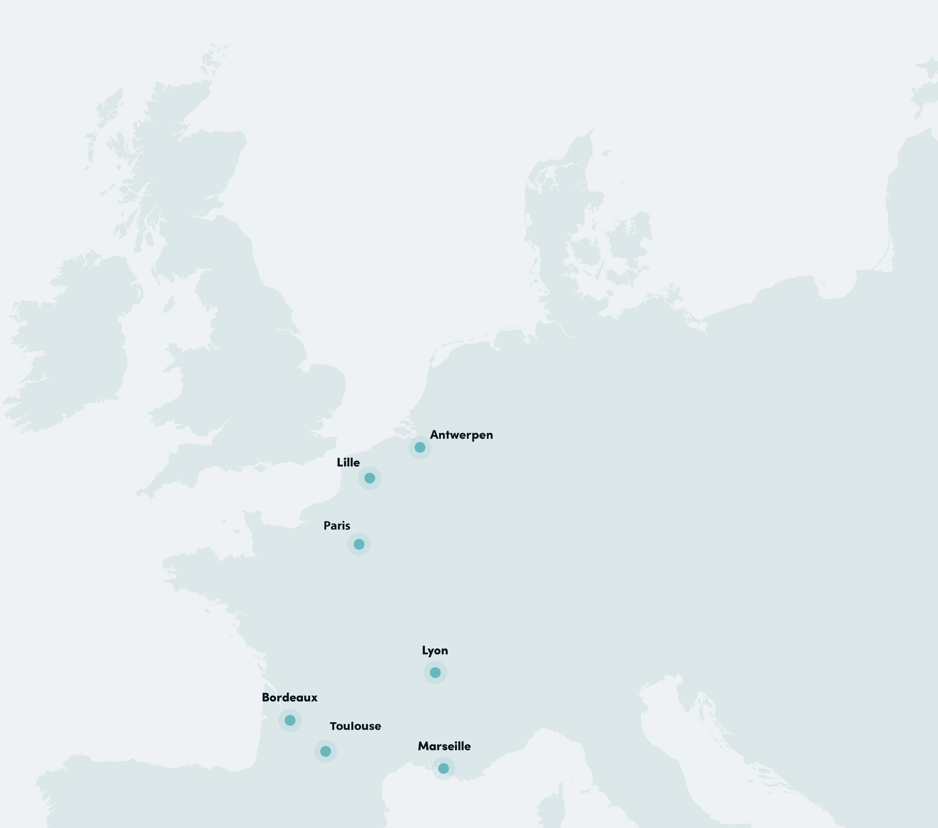 carte des coworking hubs Geninc